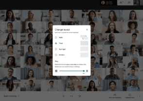 Google Meet permet désormais d'afficher jusqu'à 49 participants pendant une visioconférence