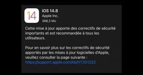 iPhone : la mise à jour 14.8 corrige une faille de sécurité importante